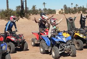 Quad bike tour in Marrakech palm grove
