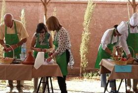 Cooking class at the foothills of Atlas Mountains