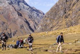 Trekking through the valleys of Atlas mountains