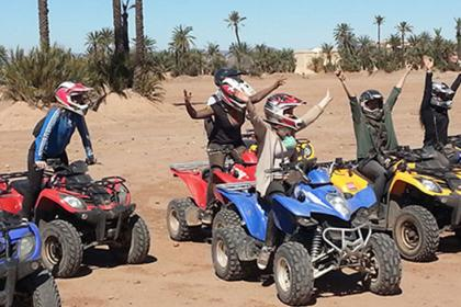 Half day quad bike tour in Marrakech palm grove