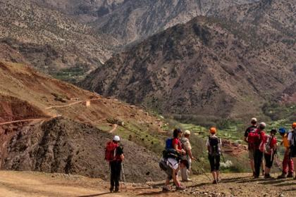 Trekking in Atlas Mountains, through berber villages and valleys