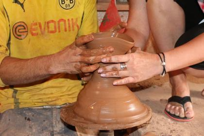 Marrakech artisanal workshop: make Moroccan pottery