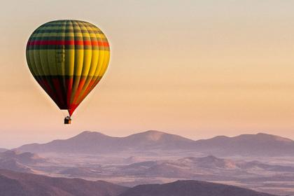 Hot air balloon in Marrakech