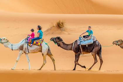 Fez to Marrakech tour, overnight in Merzouga desert luxury camp